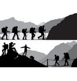 people in hike vector image