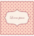Plaid pink background with banner and frame vector image vector image
