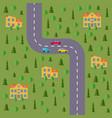 plan of village vector image vector image