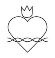sacred heart line icon vector image