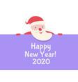 santa claus celebration banner vector image vector image