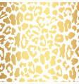 seamless gold leopard print pattern vector image vector image