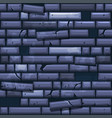 seamless texture placing blue old stone wall vector image vector image