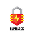 security lock - logo template concept vector image vector image