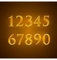 set of golden numbers vector image