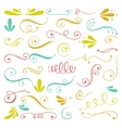 Set of hand drawn swirls vector image