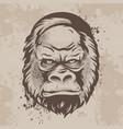 Silhouette snout gorillas monkeys in retro style
