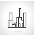 Simple line gas factory icon vector image vector image