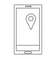 smartphone device with gps app vector image vector image