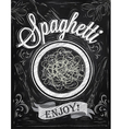 Spaghetti Poster chalk vector image vector image