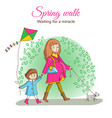 spring walk in the park vector image vector image