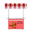 street hot dog stand flat vector image