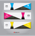 template of banner brochure flyer and card vector image vector image