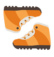 tourist hiking boots icon trekking shoes outdoor vector image vector image