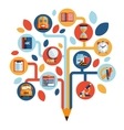 Tree with education icons vector image vector image
