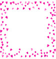 valentine background with pink glitter hearts vector image