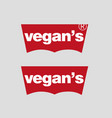 vegan logo for t-shirt image print vector image vector image