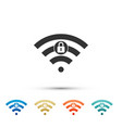 wifi locked sign icon isolated on white background vector image vector image