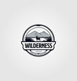 wilderness adventure vintage logo vector image vector image