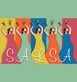 Woman salsa dancers vector image