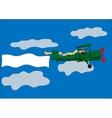 airplane banner biplane vector image
