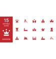 15 kingdom icons vector image vector image