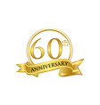 60th anniversary celebration logo vector image vector image