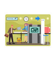 airport security check flat style design vector image vector image