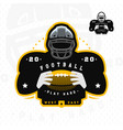 american football silhouette a football player vector image