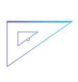 angle ruler icon tool in degraded blue to purple vector image