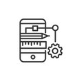 app developing - modern line design icon vector image vector image
