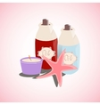 aromatheraphy oil and candle vector image