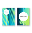 artistic cover set design neon blurred blue cyan vector image