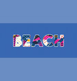 beach concept word art vector image vector image