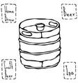 beer metal barrel beer keg doodle style sketch vector image vector image
