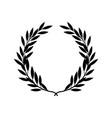 black silhouette greek laurel wreath in flat vector image vector image