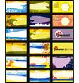 Business Card Set Horizontal vector image