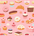 cake chocolate confectionery cupcake and vector image vector image