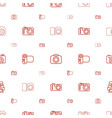 capture icons pattern seamless white background vector image vector image