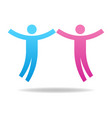 couple icon teamwork concept male and female vector image vector image