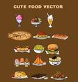 Cute Food vector image