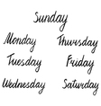 days of the week vector image vector image