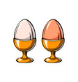 eggs holder icon eggs-cup vector image