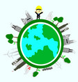 environmental engineer ecology conceptsave world vector image vector image