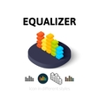 Equalizer icon in different style vector image vector image