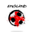 flag of england as an abstract soccer ball vector image
