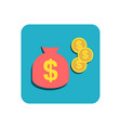 flat finance icon vector image vector image