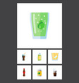 flat icon beverage set of beverage cup vector image vector image