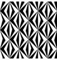 geometric diamond pattern in black and white vector image vector image