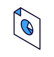 graph pie chart isometric icon vector image vector image